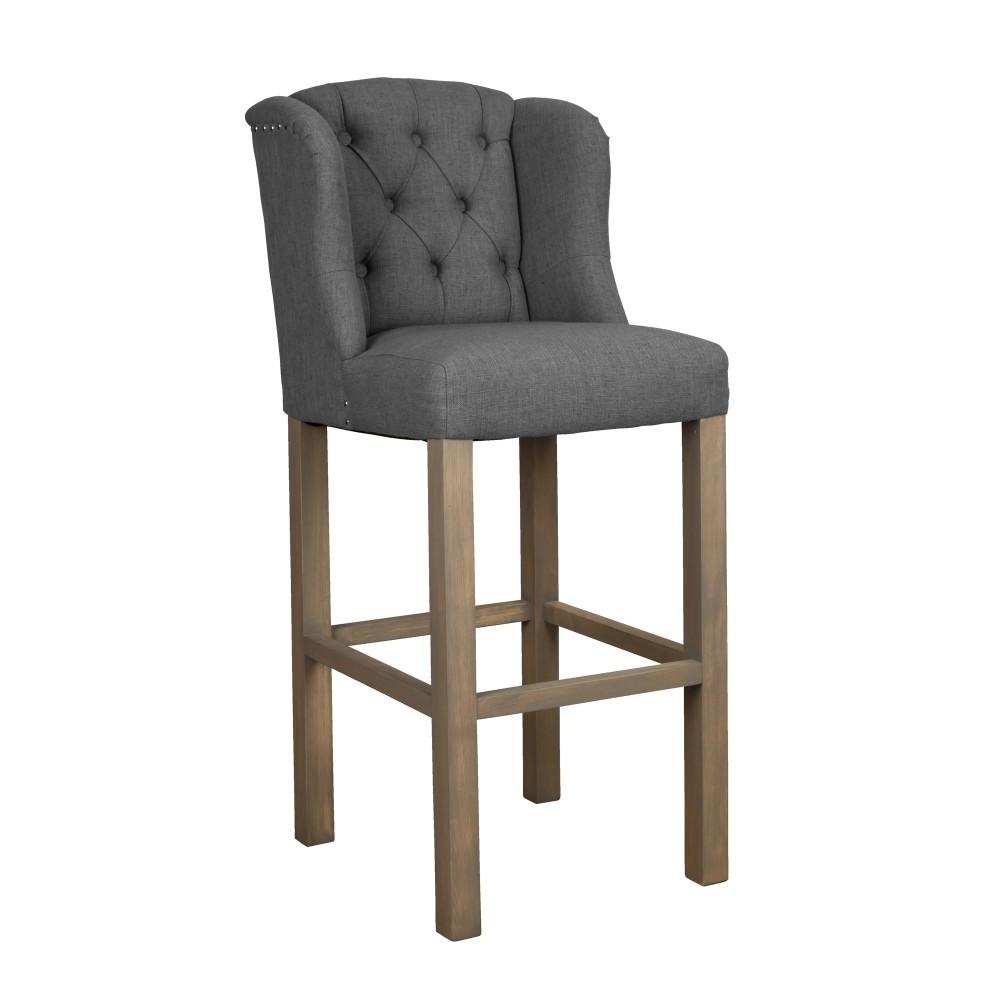 barstuhl grau barhocker grau landhausstil sitzh he 75 cm. Black Bedroom Furniture Sets. Home Design Ideas
