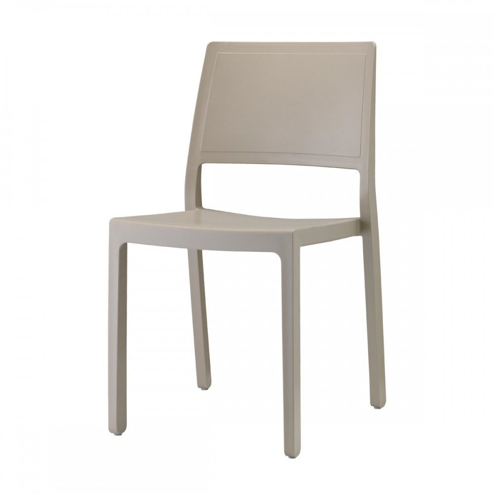 Stuhl indoor outdoor taubengrau aus kunststoff stapelbar - Outdoor stuhle stapelbar ...