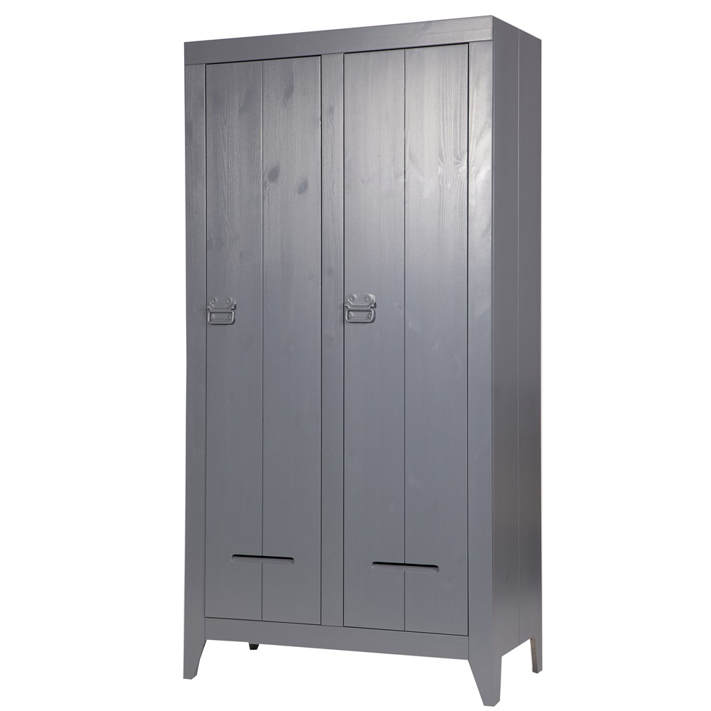 kleiderschrank farbe grau schrank 2 t ren kinderzimmerschrank grau breite 95 cm. Black Bedroom Furniture Sets. Home Design Ideas