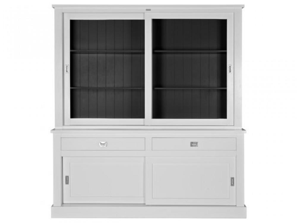 vitrinenschrank wei geschirrschrank wohnzimmerschrank im landhausstil breite 200 cm. Black Bedroom Furniture Sets. Home Design Ideas