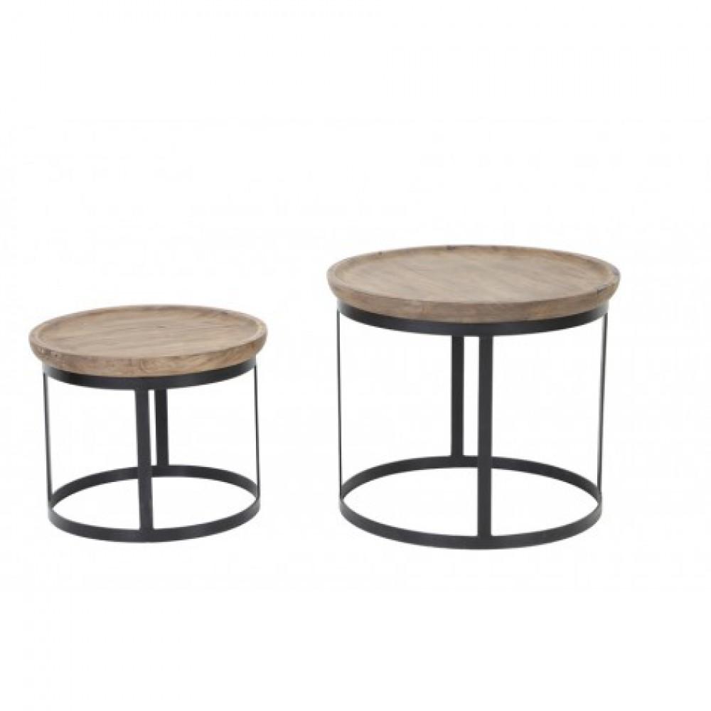 2er set beistelltisch rund schwarz couchtisch rund. Black Bedroom Furniture Sets. Home Design Ideas