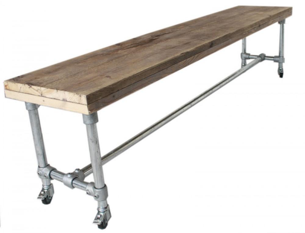 Tisch mit rollen im industriedesign esstisch mit - Tisch auf rollen ...