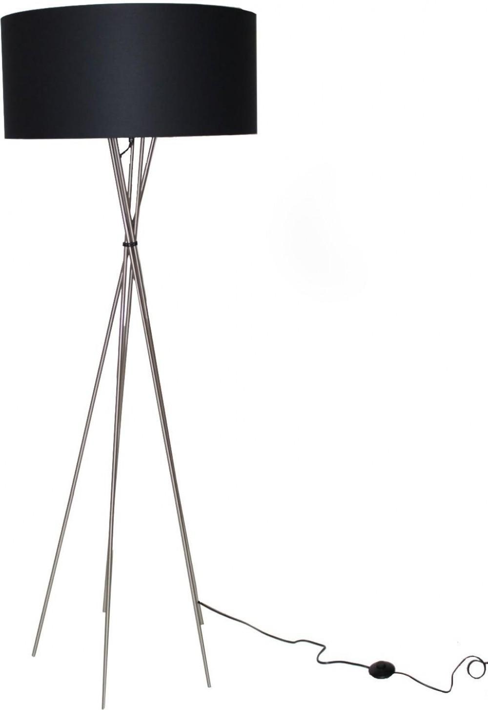 stehleuchte moderne stehlampe mit einem lampenschirm h he 145 cm. Black Bedroom Furniture Sets. Home Design Ideas