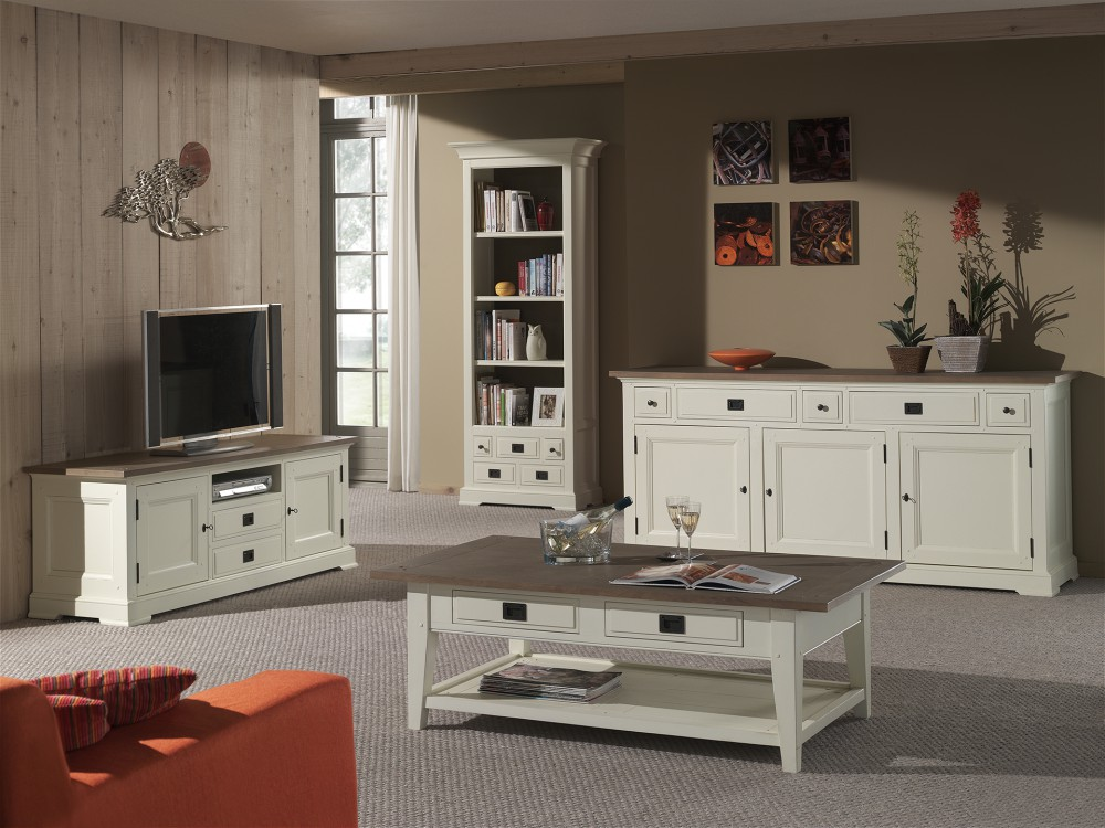 tv schrank lowboard im landhausstil in zwei farben creme wei und schwarz. Black Bedroom Furniture Sets. Home Design Ideas