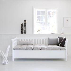 Truhenbank mit Sprossen Weiß im Landhausstil
