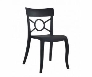 Gartenstuhl schwarz stapelbar, Stuhl schwarz Kunststoff