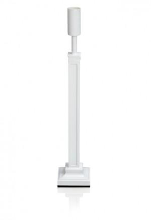 Tischlampenfuß aus Holz in weiß Höhe 43 cm
