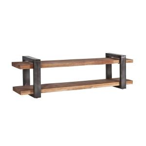 Eiken houten bankje