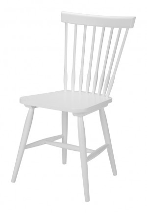 Stuhl aus Massivholz, Farbe Weiß
