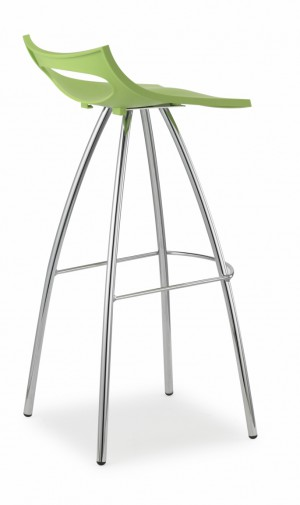Design Barhocker, Farbe grün, Sitzhöhe 65 cm