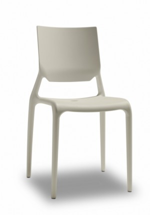 Design Stuhl Kunststoff grau, Stuhl grau
