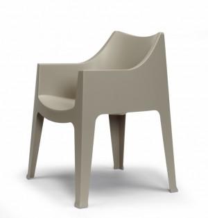 Stuhl taupe Kunststoff, Gartenstuhl taupe, Gartenmöbel Stühle
