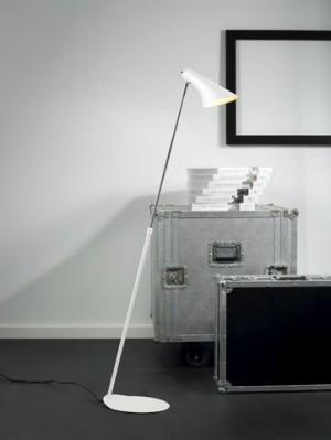Steh-/ Leseleuchte Metall weiß