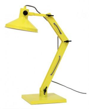 Design Tischleuchte, gelb mit verstellbaren Arm