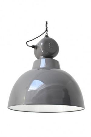 Pendelleuchte Fabrikart, Industriedesign Lampe, Farbe grau, Ø 50 cm