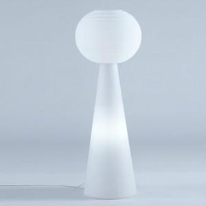 Outdoor Stehleuchte aus Kunststoff, Außenleuchte, Stehlampe weiß