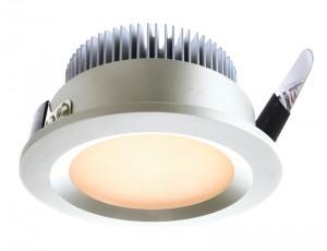 LED Deckeneinbaueuchte aus Aluminium, Glas, weiß, Ø 86cm