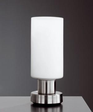 Design Tischleuchte aus Metall, Glas in weiß, chrom, Ø 8 cm