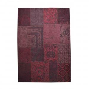 Teppich Patchwork rot, Größe 170 x 240 cm
