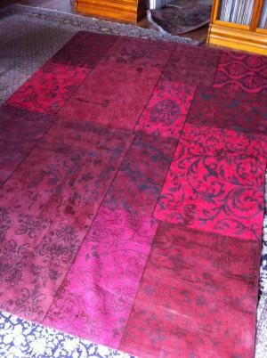 Teppich Patchwork Rot, Größe 200 x 300 cm