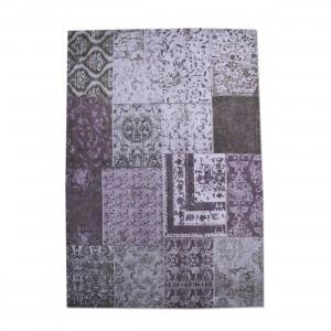 Teppich Patchwork bordeaux / purple, Größe 170 x 240 cm