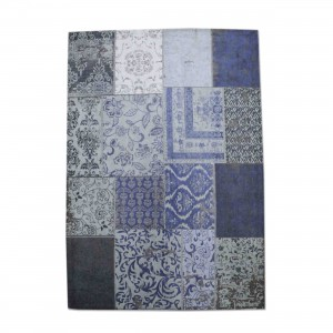 Teppich Patchwork blau, Größe 170 x 240 cm