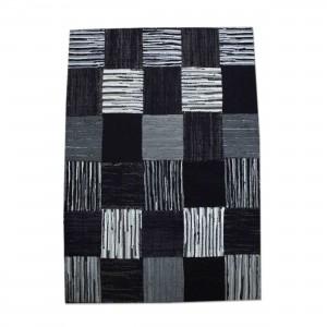 Flickenteppich Teppich,  Farbe Schwarz, Größe 160 x 230 cm