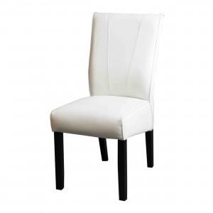 Stuhl gepolstert im Landhausstil in weiß