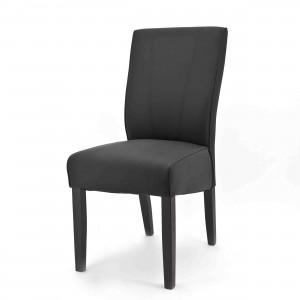 Stuhl gepolstert im Landhausstil in schwarz