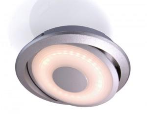 LED Möbelaufbauleuchte aus Aluminium, matt-silber