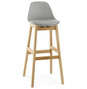 Barstuhl grau, Tresenhocker grau Kunststoff Holz, Hocker weiß, Sitzhöhe 79 cm