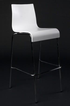 Design Barstuhl in weiß