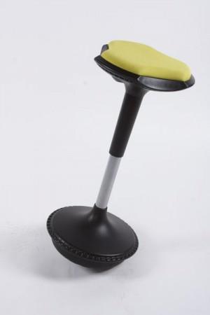 Design Barhocker in gelb flexibler Sockel