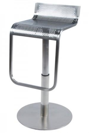 Design Barhocker aus gebürstetem Stahl