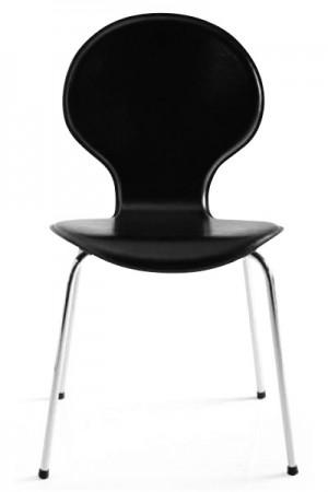 Design Stuhl in schwarz