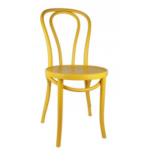 Gastro-Stuhl Metall in elf Farben, Stuhl gelb