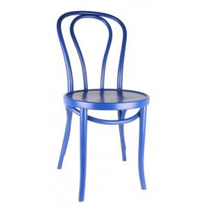 Gastro-Stuhl Metall in elf Farben, Stuhl blau
