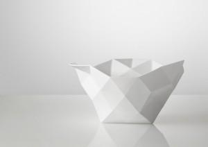 Designer Schale in weiß groß
