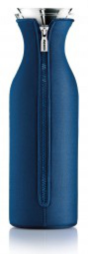 Kühlschrank Karaffe 1,4 L Glas transparent Kunststoff dunkelblau