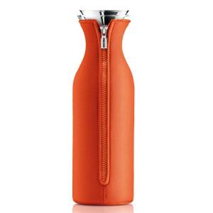 Kühlschrank Karaffe 1,4 L Glas transparent Kunststoff orange