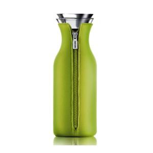 Kühlschrank Karaffe 1L Glas transparent Neonprenanzug grün/ limette
