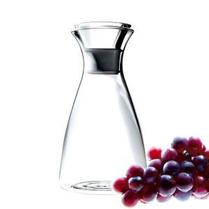 Karaffe 0,6L Glas transparent tropffrei
