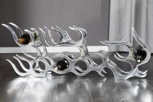Weinregal aus Aluminium für 14 Flaschen