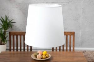 Pendelleuchte Weiß, Hängeleuchte, Lampenschirm Weiß, Durchmesser 45 cm