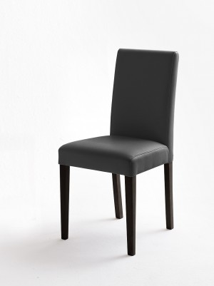 Stuhl grau gepolstert, Stuhl mit PU Stoff bezogen