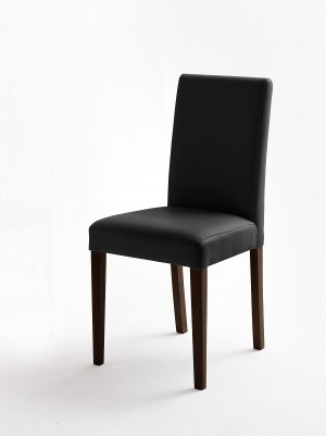 Stuhl schwarz gepolstert, Stuhl PU Stoff Lederoptik