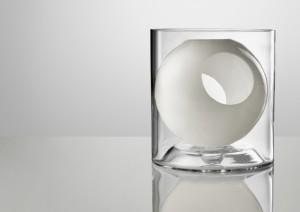 Designer Blumenvase weiß
