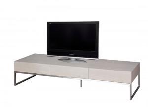 TV Schrank grau, Lowboard beige-grau  mit drei Türen, Breite 180 cm