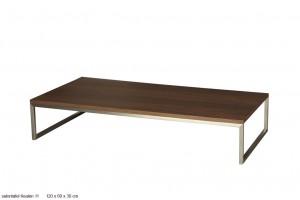 Couchtisch, Tisch Walnuss furniert, Maße 120x60 cm