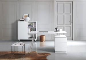 Moderner, design Schreibtisch in zwei Farben